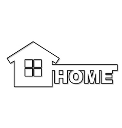 concept house symbol vector image