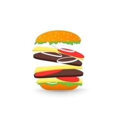 Falling hamburger vector image vector image
