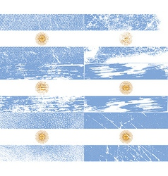 Flag of argentina with old texture vector