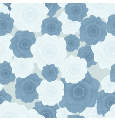 Flowers blue vector image vector image