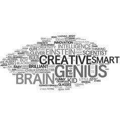 Genius word cloud concept vector