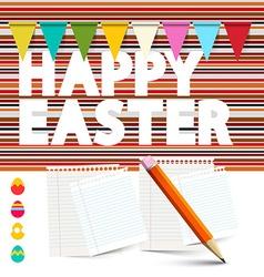 Happy Easter Retro Background vector image vector image