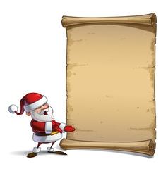 Happy Santa Scroll Presenting to You vector image vector image