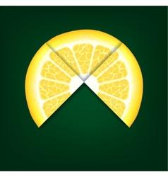 Lemons segments background vector
