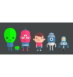 me and my friends aliens vector image
