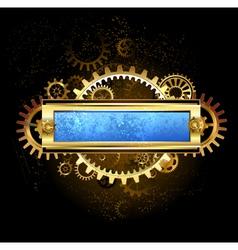 Mechanical Blue Banner vector image vector image