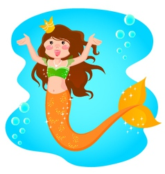 mermaid princess vector image