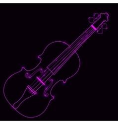 Neon violin vector
