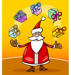 santa claus cartoon christmas vector image vector image