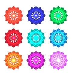 set of color mandalas vector image