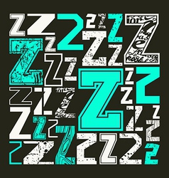 Set versions of letters Z vector image