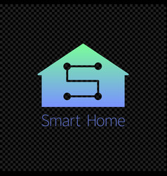 smart home logo template isolated on transparent vector image