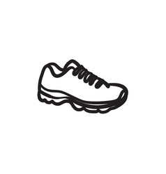 Sneaker sketch icon vector