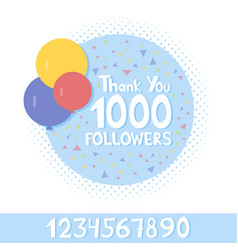 Thank you social network followers concept vector