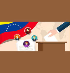 Venezuela democracy political process selecting vector