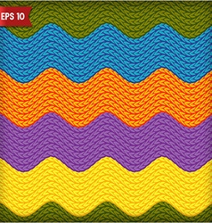 Wavy knitted seamless pattern background vector image