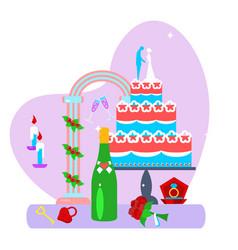 wedding decor set vector image