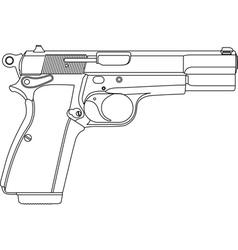 wireframe gun pistol vector image