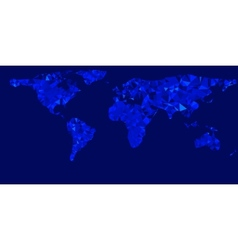 world map with glowing blue vector image vector image