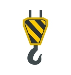 Hook from crane icon flat style vector