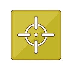 Firearm aim or target icon image vector