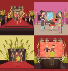 fashion show design concept vector image