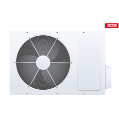 split air conditioner system vector image