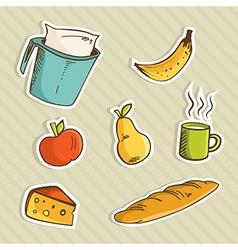 Healthy cartoon food vector image