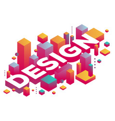 Creative of three dimensional word design with vector
