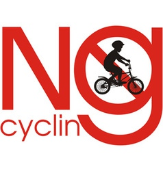 No cycling vector image