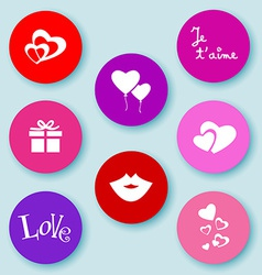 Love web buttons-flat vector