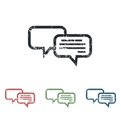 Chatting grunge icon set vector
