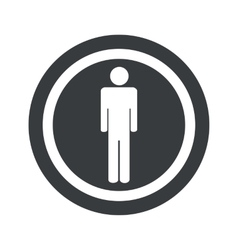 Round black man sign vector
