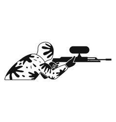 Paintball player simple icon vector