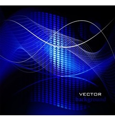 Elegant seamless pattern in blue vector image