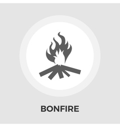 Bonfire flat icon vector