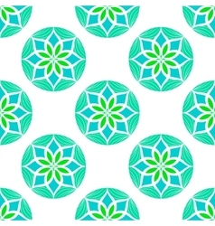 Seamless colour mandala pattern vector