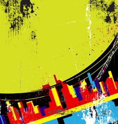 abstract urban design vector image