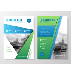 Annual report brochure vector