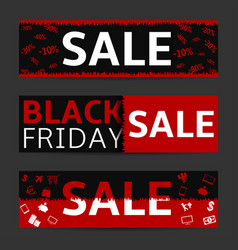 black friday banner set vector image vector image