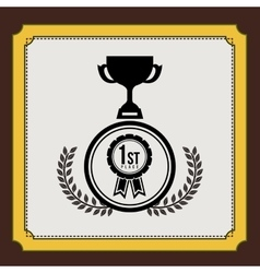 Championship award design vector