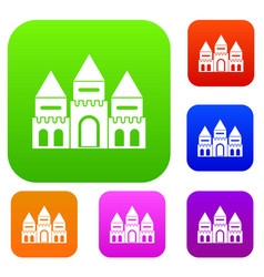 Children house castle set collection vector