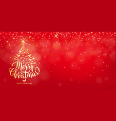 christmas background happy new year holiday vector image vector image