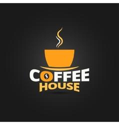 coffee cup design menu background vector image vector image