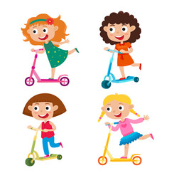 cute concept of girls on vector image vector image
