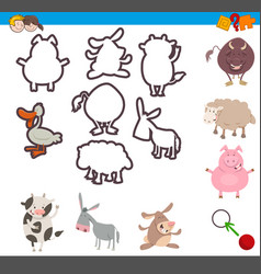 educational game with animals vector image vector image