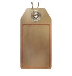 Empty cardboard tag EPS 10 vector image vector image