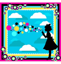 happy childhood vector image vector image