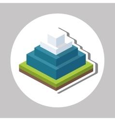 Isometric design nature icon eco concept vector
