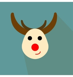 Nice deer on the blue background vector image